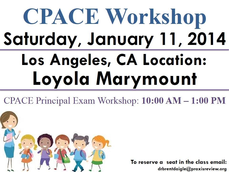 (CPACE) California Preliminary Admin Credential Examination