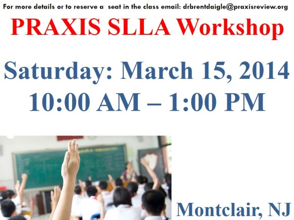 SLLA WORKSHOP – NEW JERSEY – MARCH 15, 2014
