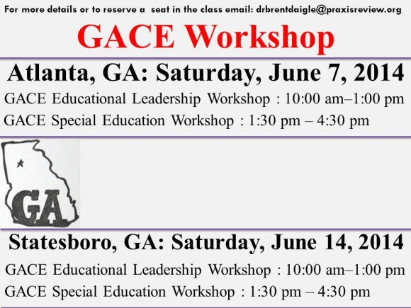 GACE Workshop - Educational Leadership and Special Education