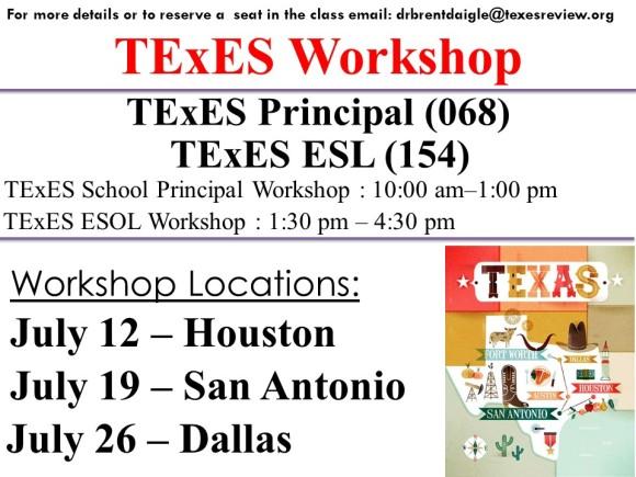 July – TExES Teacher Certification Exam Workshop – Multiple ...