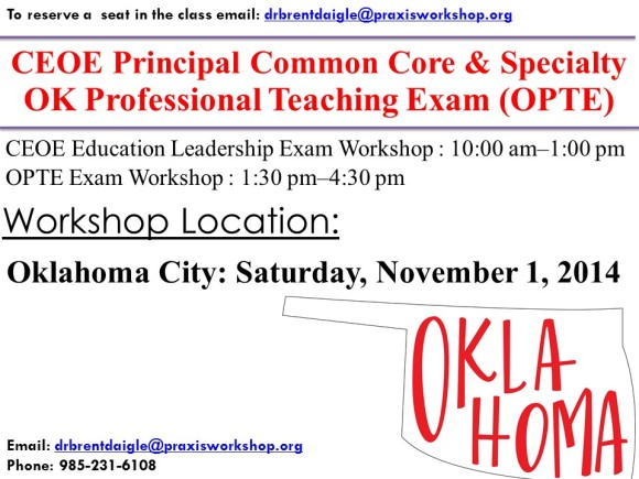 Oklahoma CEOE Workshop
