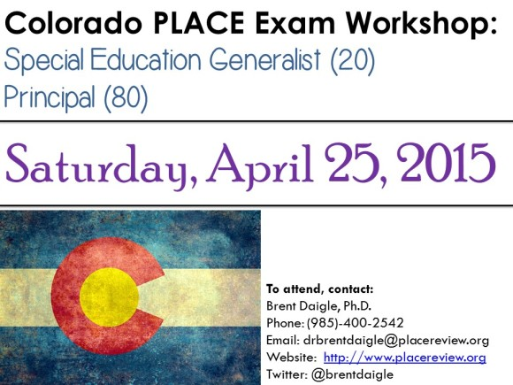 Colorado PLACE Exam Workshop