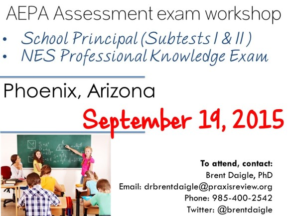 AEPA Assessment exam workshop
